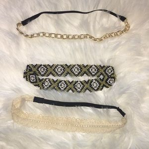 NWOT, Set/3 Headbands